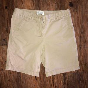 J.crew Bermuda khaki shorts size 8